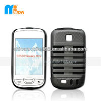 PC&silicon mobile case for Samsung Galaxy Mini S5570