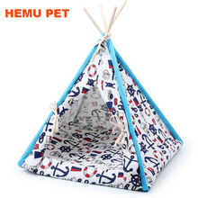 2017 hemu wholesale dog toy tent classical mix design canvas Style pet teepee