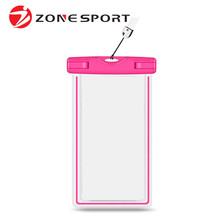 6 Inch Mobile Phone Case Clear Waterproof Bag For Swimming