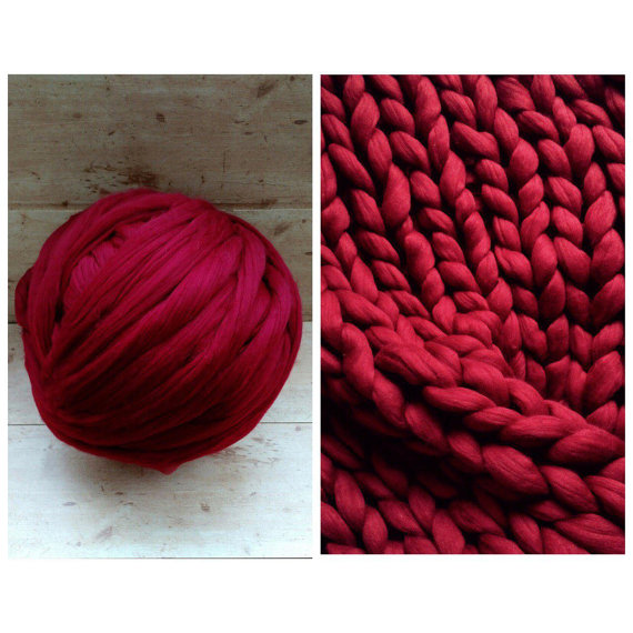 Needle Felting Wool - Super thick merino Yarn - Needle Felting Yarn - Merino Wool 21 micron - Merino Wool Roving - Bulky yarn