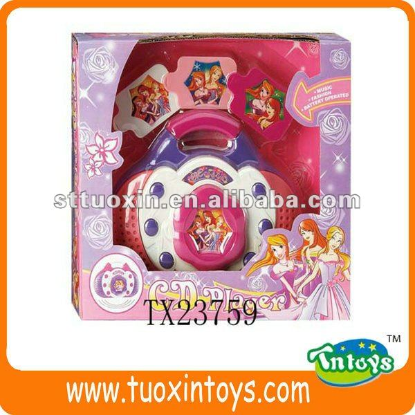 CD MACHINE TOY W/MUSIC, GIRL'S TOY, PLASTIC TOY