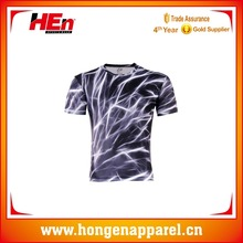 Hongen apparel custom sublimation t shirt/high quality gym subliamtion t-shirt