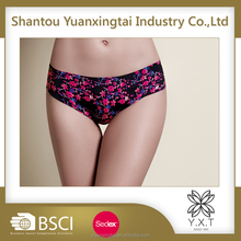 China factory soft flower-printed new model lady butt lift sexy transparent ladies young girls women underwear panties