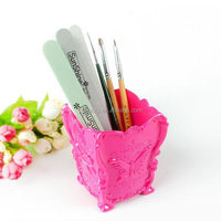 Wholesale New Creative design wooden pink nail art decoration case #NBHB-05 nail art brush case holder organizer bottle tool