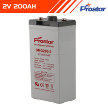 Prostar maintenance-free 2v 200ah battery gel lead acid storage battery price