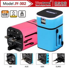 JY-302 Usb travel charger 2 in 1 with hub 2 ports usb,for ipad super fast power charger,for tablet usb multi charger