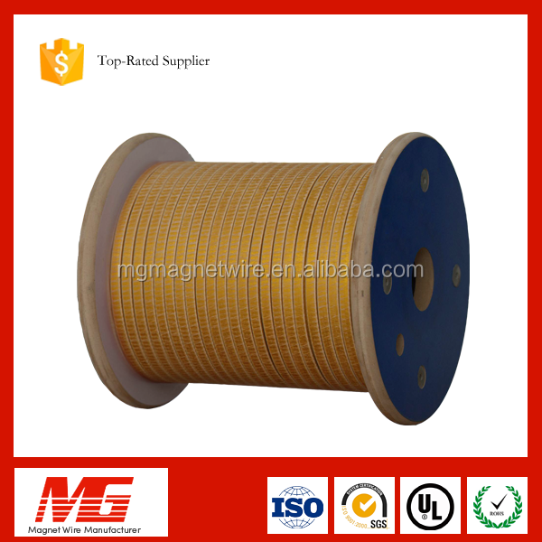 180 class medium electrical motor used double fiber glass covered aluminum flat wire