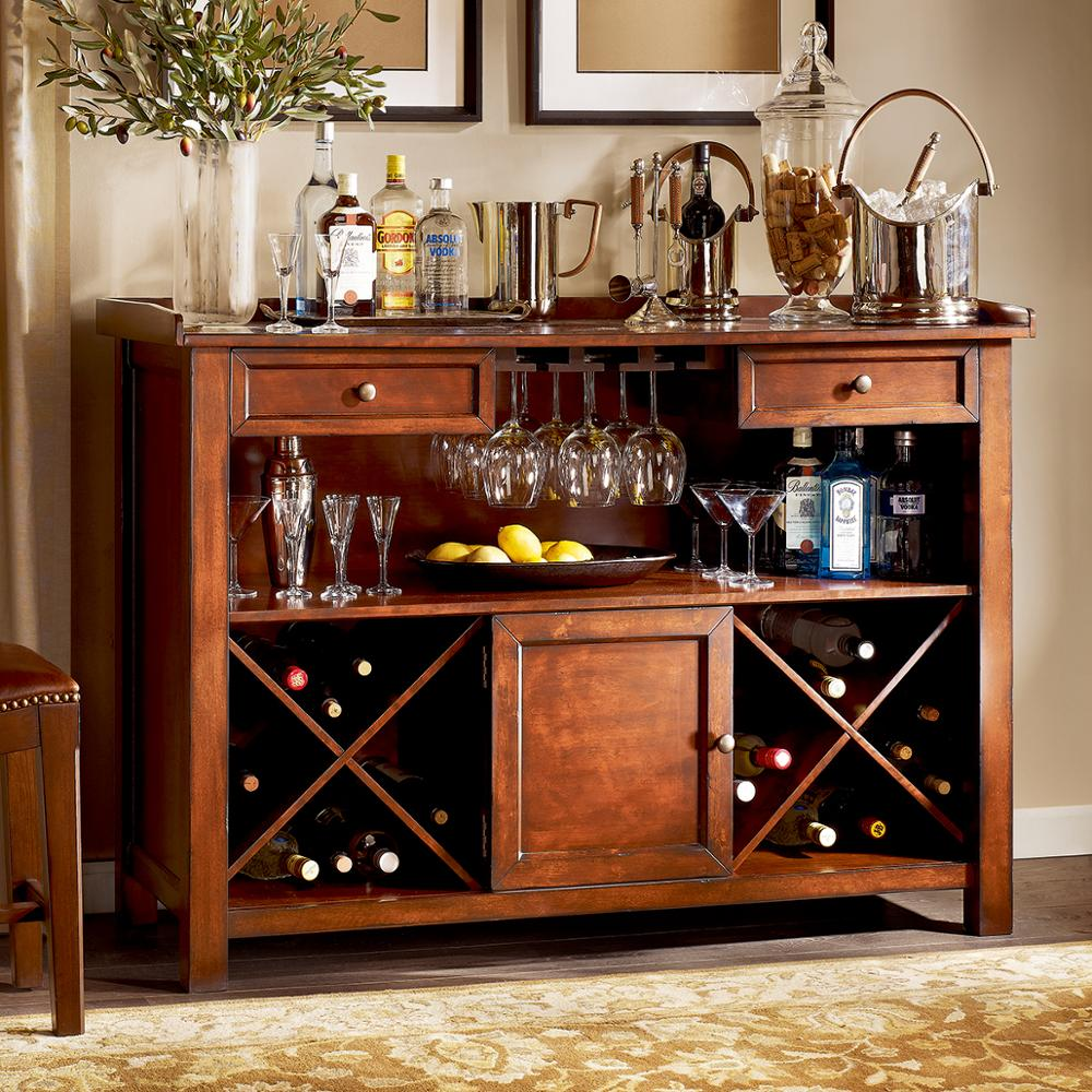 F40468A-1 Hot selling american countryside style antique wooden wine cabinet