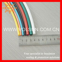 Colored thermal insulation heat shrink tubes for capacitor