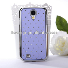 FL3387 Guangzhou high quality diamond leather back cover case for samsung galaxy s4 i9500