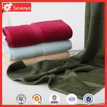 100% cotton dark color plain hand towel