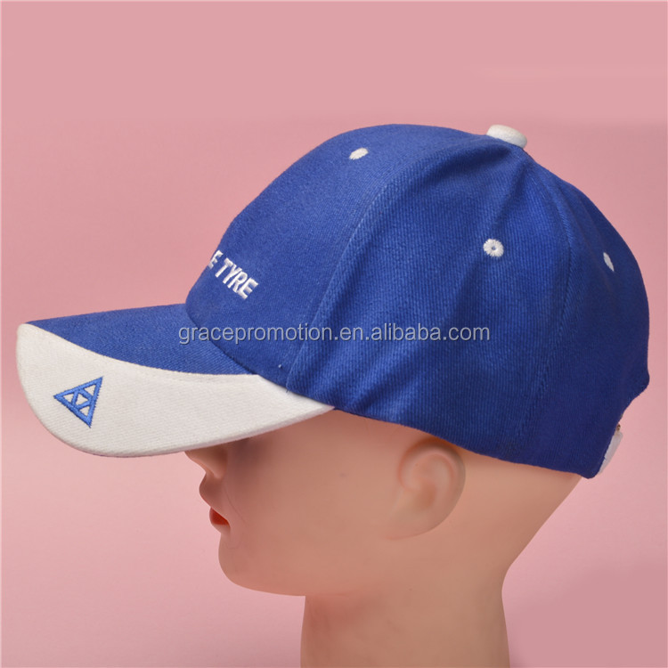 Embroidery logo cotton twill 6-panel golf cap, sport baseball cap free samples