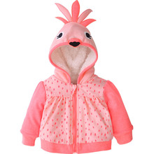 Winter Cheap Baby Girls Fleece Jackets With Animal Designs Warm Coats