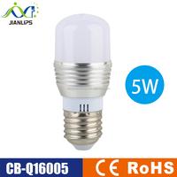 Aluminum alloy led bulb E27 E14 B22 AC85-265V SMD5730 5W led bulb CE ROHS led energy saving light
