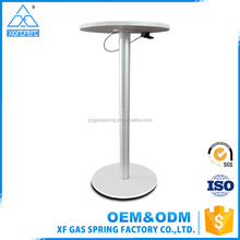 Wholesale best price furniture spare parts aluminum adjustable height table base with cable control