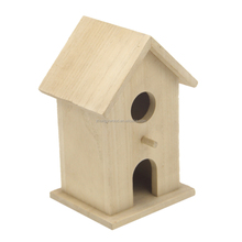 BSCI IS9001 FSC Village natural two-double Wooden Bird House