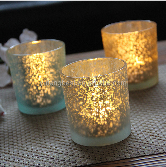 mercury glass votive candle holder yufeng