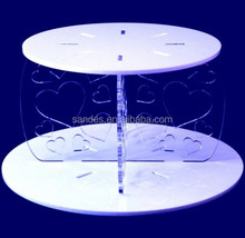 Two Tier Detachable Acrylic Cupcakes Dessert Stand Perspex Wedding Cupcake Stand