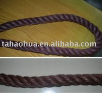 pe twisted rope with chocolate color