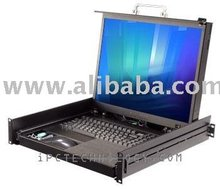 "Rackmount LCD Monitor Keyboard Drawer with 20.1 "" LCD"