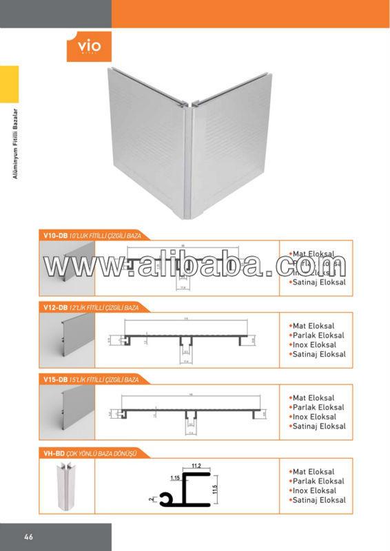 Zocalo para cocina for Zocalos de aluminio para muebles de cocina