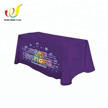 Wholesale Polyester Fireproof Rectangular Tablecloth , Custom Logo Table Cloth