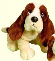 EN71 & ASTM stuffed dog soft toy hush puppies