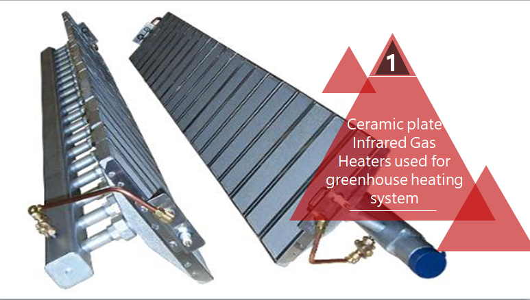 Ceramic plate Infrared Gas Heaters used for greenhouse heating system