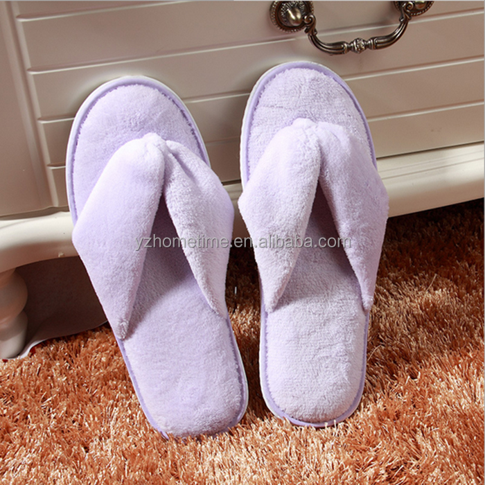 Cheap personalized women terry cloth thong slippers