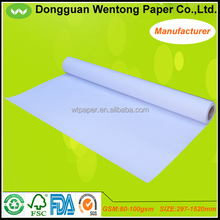 80gsm white design paper roll 50m for engineering drawing