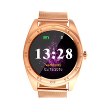 k89 wrist watches men women leather strap Round <strong>Touch</strong> <strong>Screen</strong> smartwatch Phone smart watch heart rate mobile watch phones <strong>x10</strong>