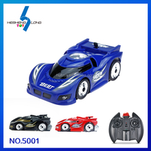 RC wall climbing car high speed 360 degree rotation with lighting