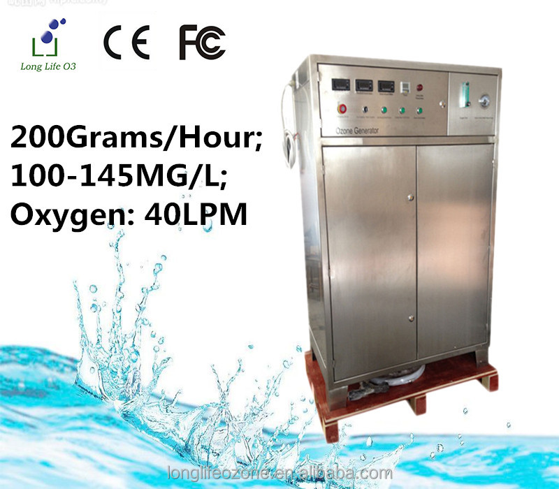 high tech LF-OXF200G oxygen source ozonator/ozone water purifier for cleaning vegetables/portable water treatment system