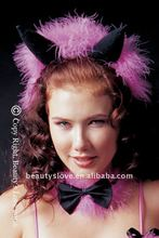 Headpiece with marabou