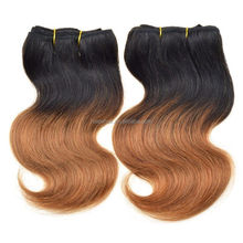 100% Human Remy 120g Indian Short Curly Two Tone Hair Extension