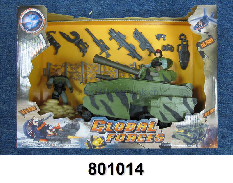 Plastic mould military tank AK47 guns land force