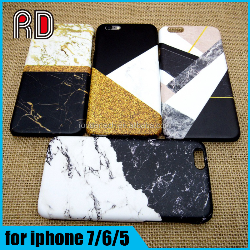 Luxury IMD printing mix colors matt hard marble pc phone case for iphone 7 7plus 6 6 plus