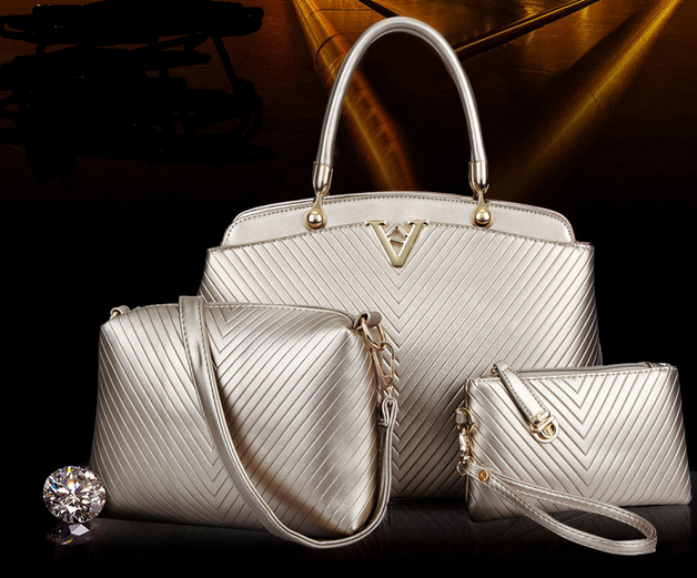 PU Leather Set Hand Painted Wholesale Images Ladies Hand Bags