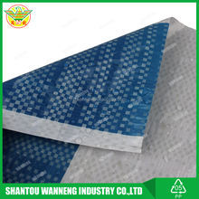 blue white striped fabric tarpaulin