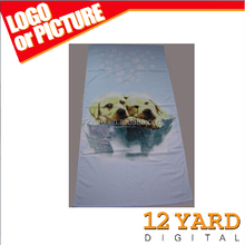 Jacquard logo thick terry towel customized logo design big bath towel, cotton sublimation dog pattern sport towel