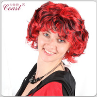 short black and red curly weave hair wholesale