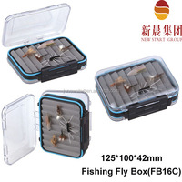 Sport fishing slim foam transparent fly plastic boxes small clear