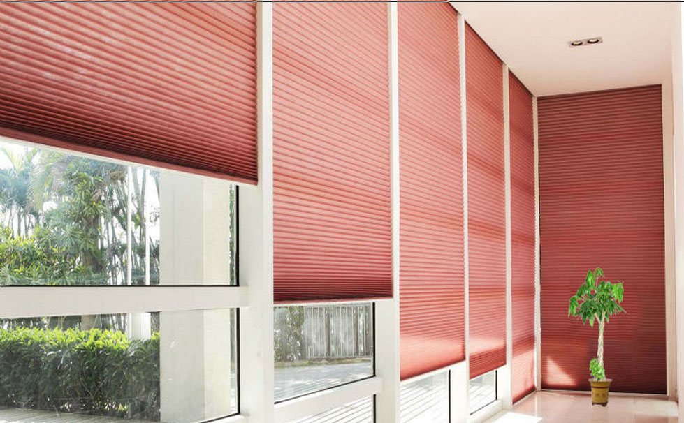 2014 new style motorized Pleated curtain /25MMFabric Pleated Blind/pleated blinds with remote control &venetian blind motors
