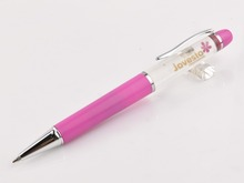 promotional novelty metal clip liquid ink floating ball pen