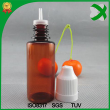 wholesale 1oz umber e juice plastic bottle malaysia , brown 30ml e liquid pet bottle with childproof cap