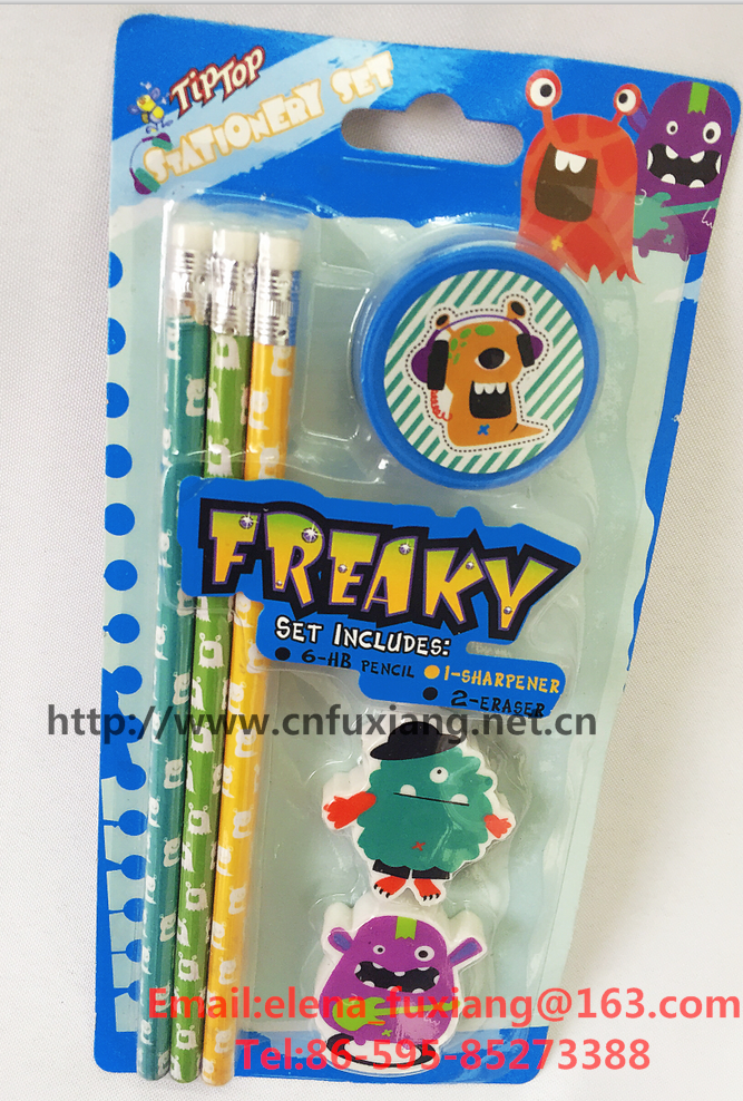 Happy Halloween'S Day Freaky printing 9pcs kid stationery set for children's gift