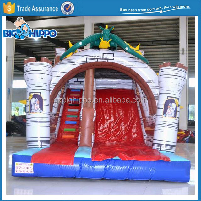 Inflatable Dragon Slide, Inflatable Single Lane slide