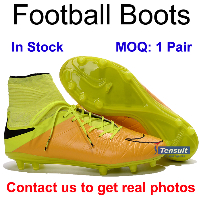 2016 high ankle football boots with brand design boot soccers