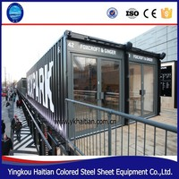 Mobile container buildings restaurant/designer fast food kiosk/prefabricated bar office container for sale