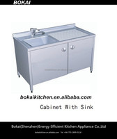 SHENZHENBOKAI kitchen sink/outdoor sink table/stainless steel commercial sink cabinet
